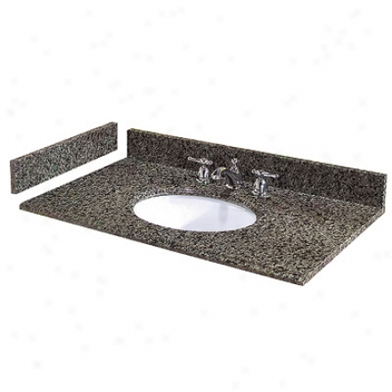 Pegasus Pe25829 Quadro Granite Vanity Top 25 X 22, White Bowl