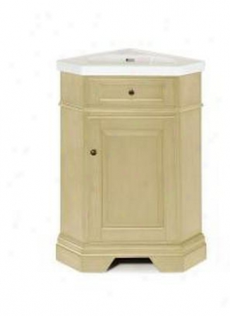 Pegasus Peg-678cv-2618pr Richmond 26 Corner Vanity In Parchment With Vitreous China Vanity Top In W