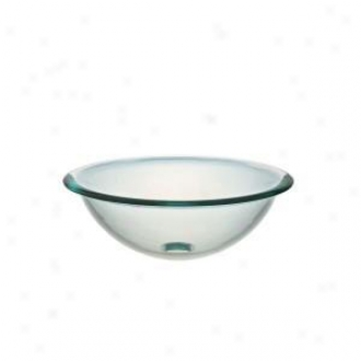 Pegasus Pegvs-165-rim Above-counter Round Glass Vsesel Sink, Clear
