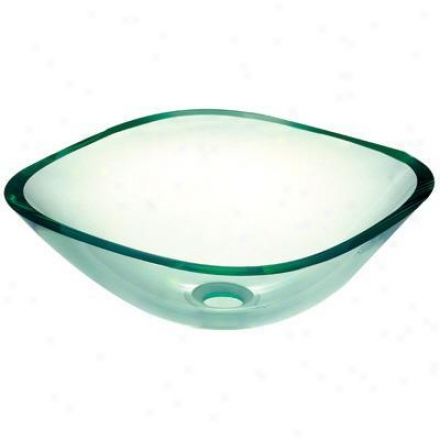 Pegasus Sf-01 Clear Square Glass Vessel Sink, Clear
