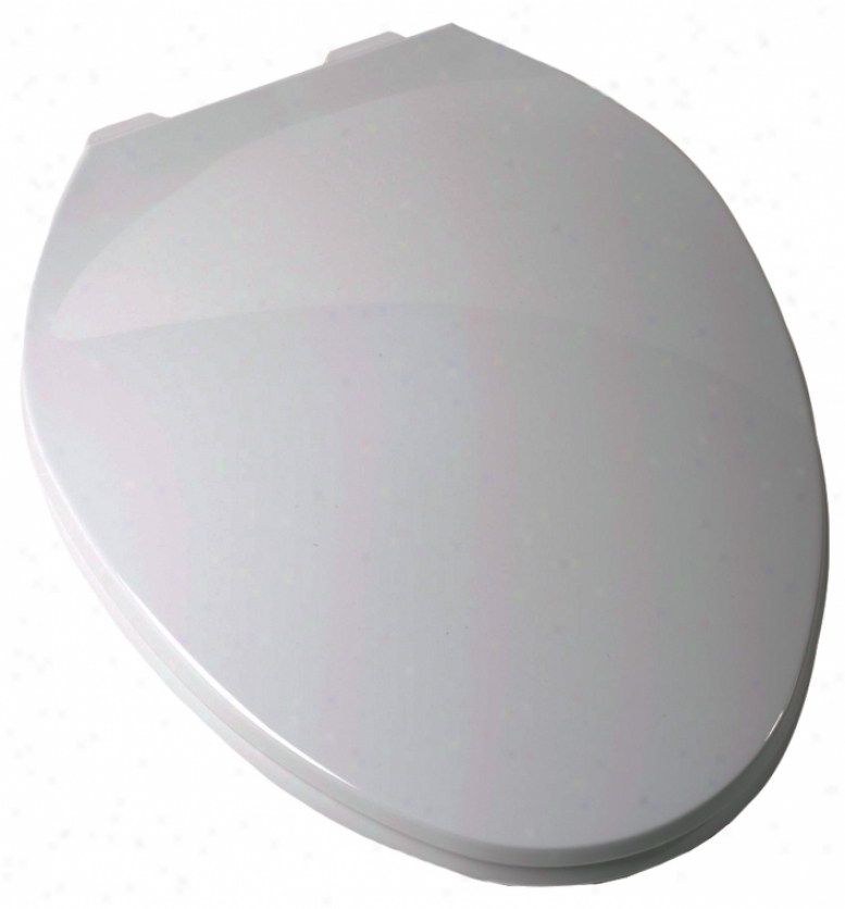 Plumbest C3b3e3-00 Elongated Contemporary Toilet Seat, White
