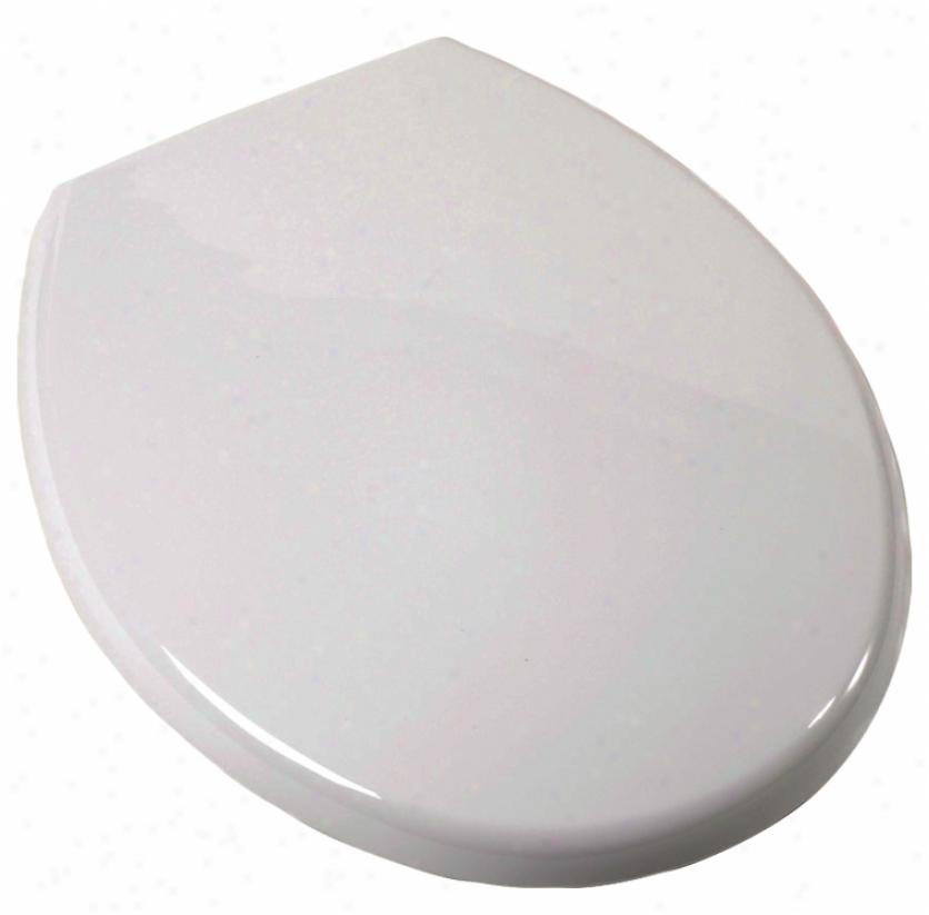 Plumbest C3b3r2-00 Round Euro Toilet Seat, Pale