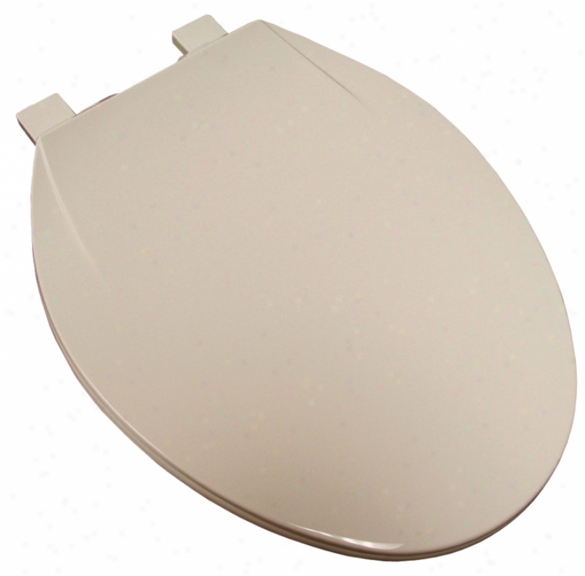 Plumbest C5bb3e1-00 Elongated Plastic Toilet Seat, White