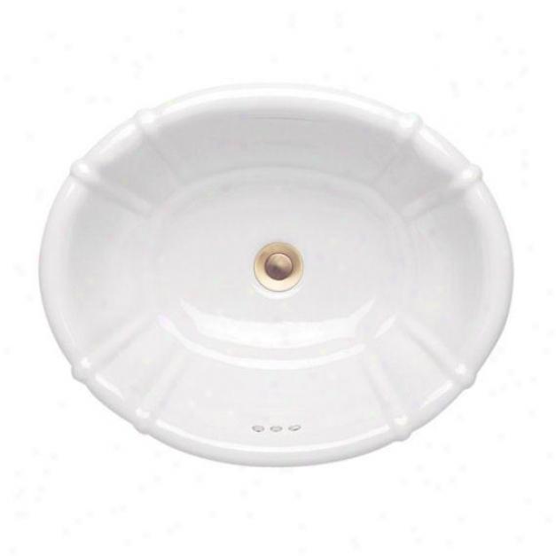 Porcher 10070-00.095 Belle Terra Grande Countertop Lavatory, Matte Almond