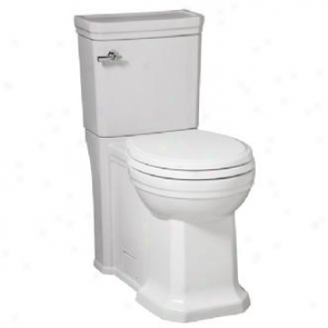 Porcher 90450-28.001 Luteziq Rpund Front High-efficiency Toilet, White