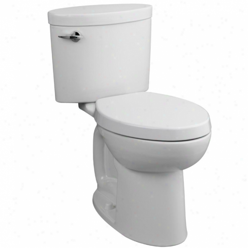 Porcher 90750-28.001 Ovale Elongated High Efficiency 2-piece Toilet, White