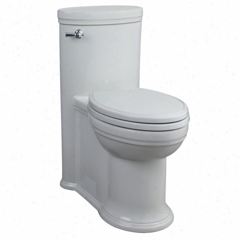 Porcher 97920-28.001 Arcchive Elongated High Efficiency 1 Piece Toilet, White