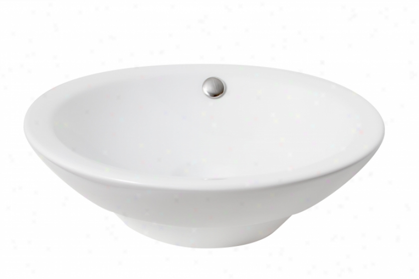 Premier 581126 Semi-recessed Vitreous China Vessel Sink, White