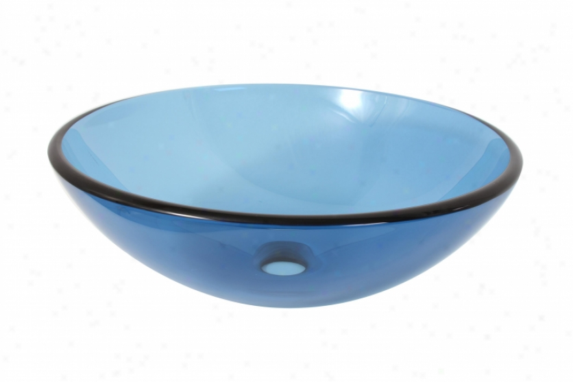 Premier 581130 Blue Glass Vessel Sink