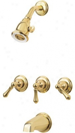 Price Pfister 01-81bp Shower Head, Tub Spout And Valve Set Trim Only