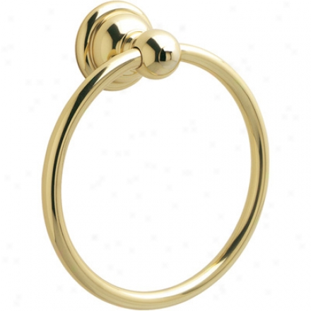 Price Pfister Brb-b0pp Towel Ring, Polished Brass