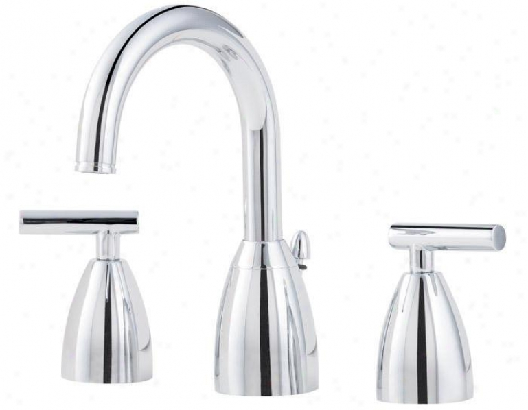 Price Pfister F-049-nc00 Contempra 3 Hole Widespread Lavatory Faucet, Polished Chrome
