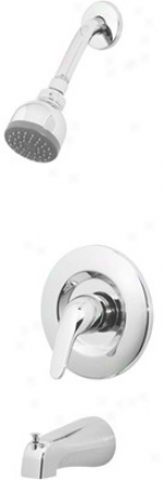 Price Pfister Pro-pp82 Shower Head, Tub Spout And Valve Set
