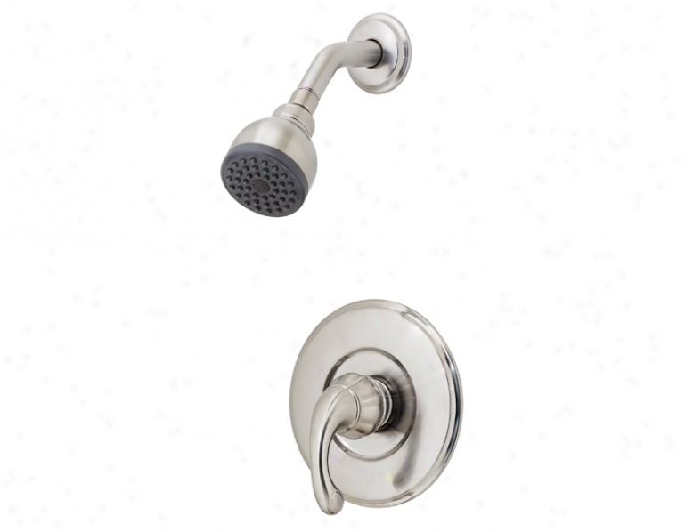 Price Pfister R89-7dk0 Treviso Shower Only, Round Flange, Bell Shower Head, Brushed Nickel