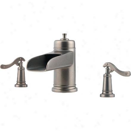 Price Pfister Rt6-ypxe Ashfield Waterfall Design - Roman Catholic Tub Trim, Rustic Pewter