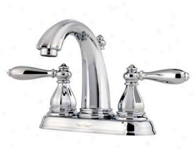 Price Pfister T48-rp0c Two Handle 4 Centerset Lavatory Bathroom Faucet, Polished Chrome