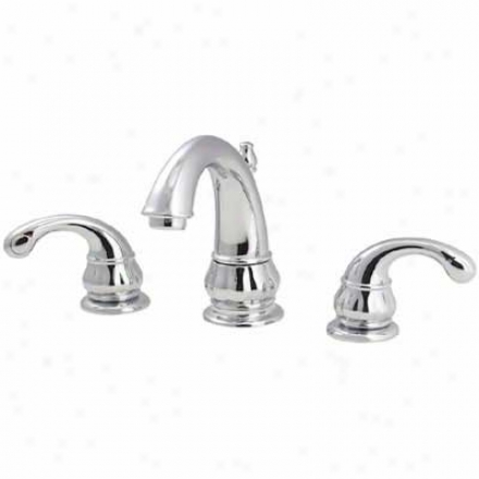Price Pfister T49-dc00 Treviso Lavatory 8-15 Lavatory Faucet With Lever Handles, All Metal Pop-up.