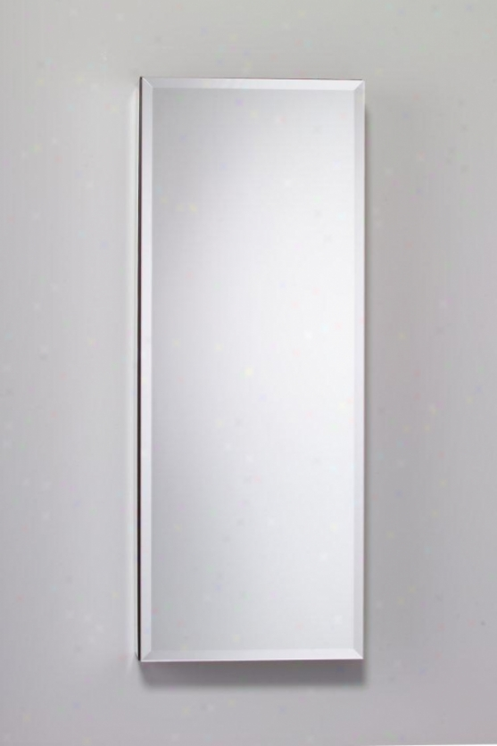 Robern Mp16d6fre Flat Mirrored Door, 15-1/4w X 39-3/8h, Right Hand Hinge, Electric Outlet Shelf An