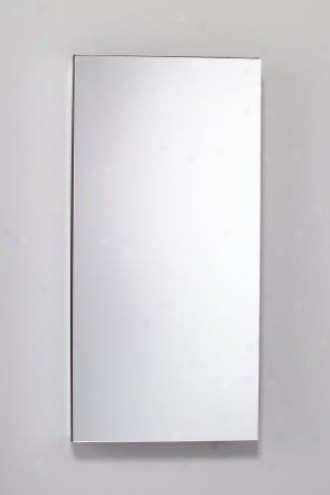 Robern Mp20d4-fbn Flat Mirrored Door Cabinet, Left Or Right Hand Hinge, Beveled Edge