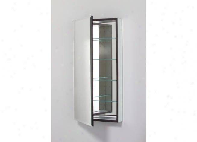 Robern Mp20d8fbn Flat Beveled Mirror Cabinet, 19-1/8w X 39h X 8d,, Beveled Edge