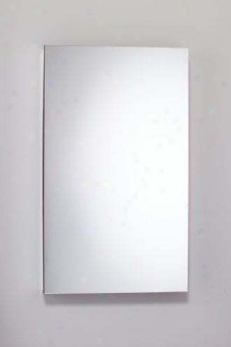 Robern Mp24d4-fbre Flat Mirrored Door, Right Hand Hinge, Electric Outlet Shelf And Door Defogger, Be