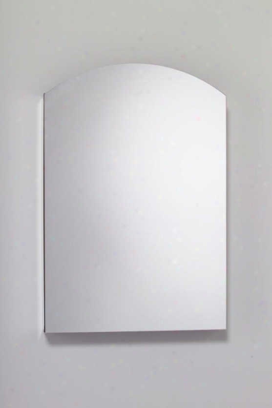 Robern Mt24d4able Arch Beveled Mirror Cabinet, 23-1/4w X 34h X 4d, Left Hand Hinge, Electric Outl