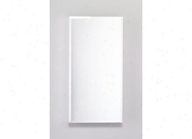 Robern Plm1630wbre Pl Series Cabinet 16 W X 30 H X 4 D, Flat Top Bevel Glass Door, Interior Elect