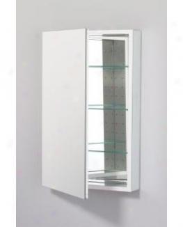 Robern Plm2030wre Pl Succession Cabinet 20 W X 30 H X 4 D, Flat Top Plain Glass Door, Interior Electr