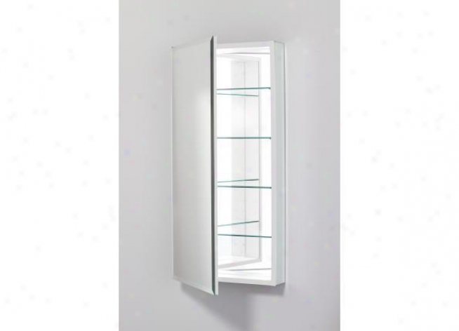 Robern Plm2040wble Pl Series Cabinet 20 W X 40 H X 4 D, Flat Crop Bevel Glass D0or, Interior Elect
