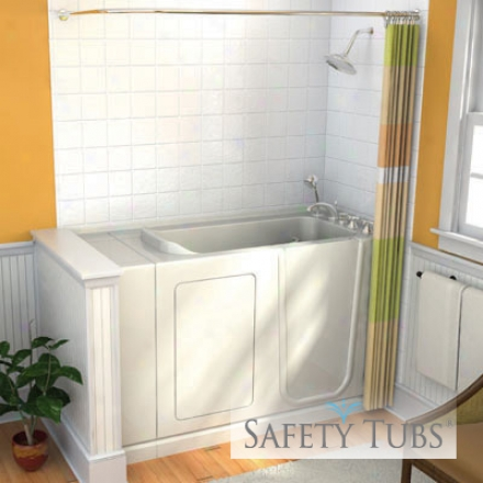 Safety Tubs St6032ls-wh 60 X 32 X 32 Acrylic Walk-in Bath, Soaker, Left Hand Drain, White