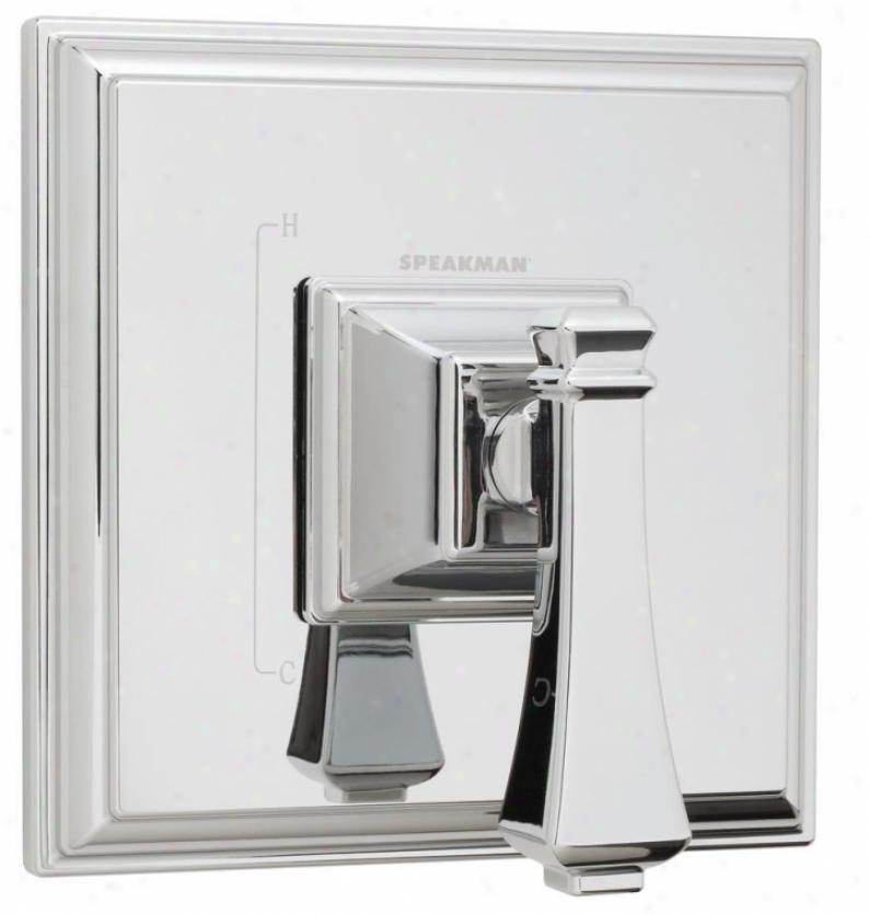 Speakman Sm-8000-p Rainier Pressure Balance Valve And Trim, Polished Chrome
