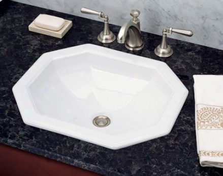 St. Thomaz Creations 1024.000.01 Westmont Countertop Lavatory, White
