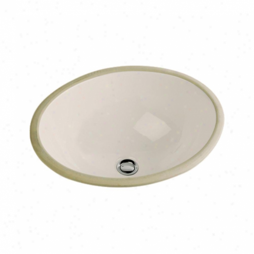 St. Thomas Creations 1214.000.06 Marathon Oval Undermount Rear Drain Lavatory, Balsa