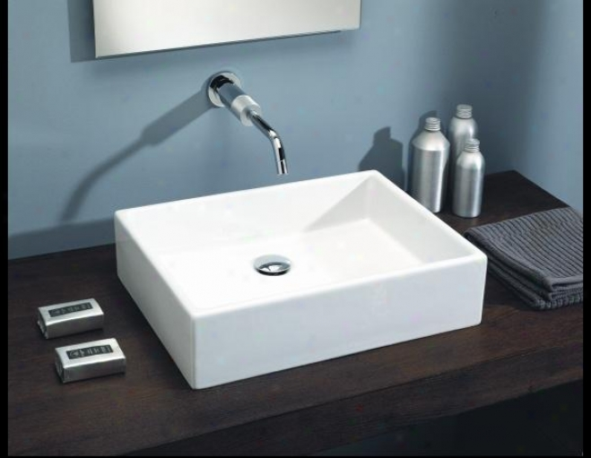 St. Thomas Creations 1350.200.01 Box 50 Abobe Contrary Bathroom Sink Without Faucet Hole, Pale