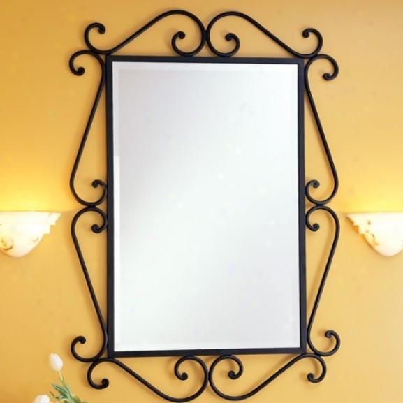 St. Thomas Creations 2016.000.13 Granada Rectangle Beveled Mirror, Mourning