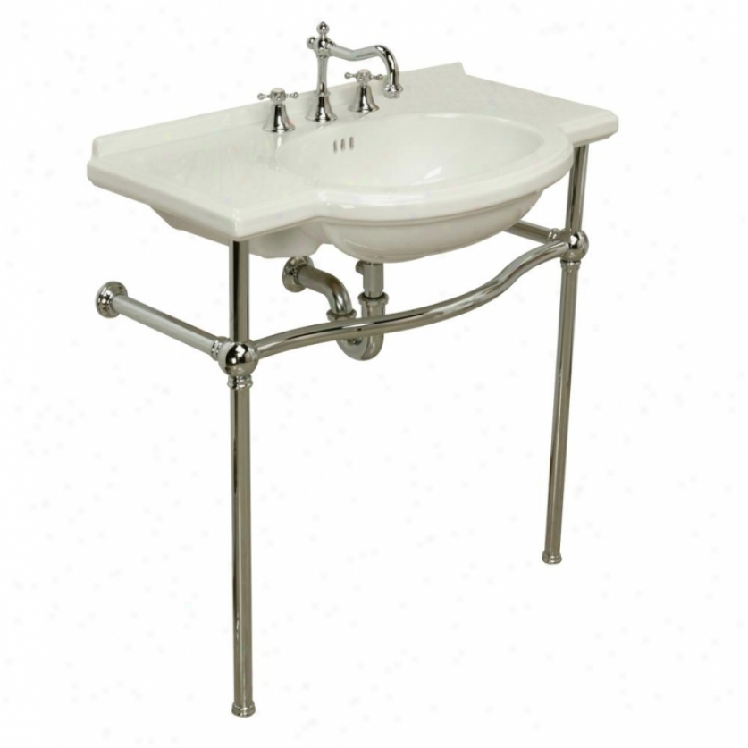 St. Thomas Creations 5010.631.89 Nouveau Console Stand Only, Satin Nickel
