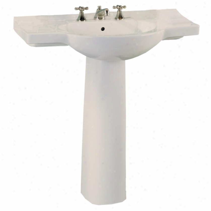 Kohler K 2035 4 47 Pinoir Wall Mount Lavatory With 4 Centers Almond Bathroom Catalog The