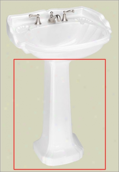 St. Thomas Creations 5071.331.02 Barrymore Pedestal Sink Pedestal Only, Bone