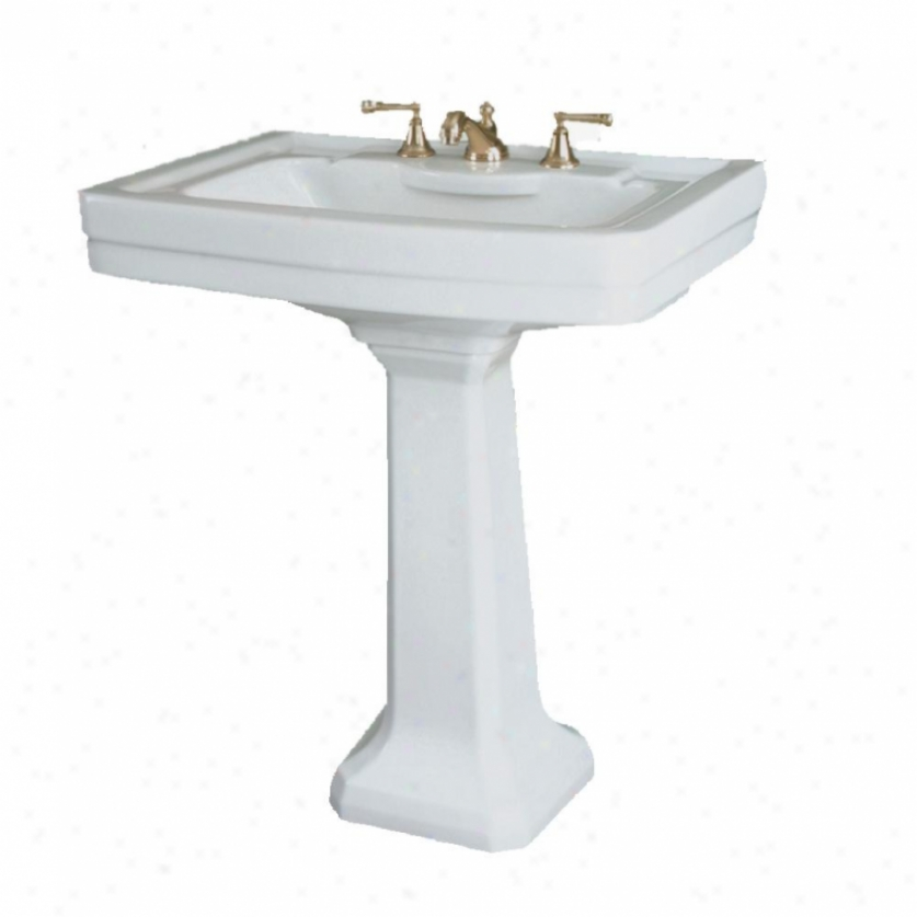St. Thomas Creati0ns 5125.082.01 Richmlnd Petite Lavatory Only, 8 Faucet Center, White