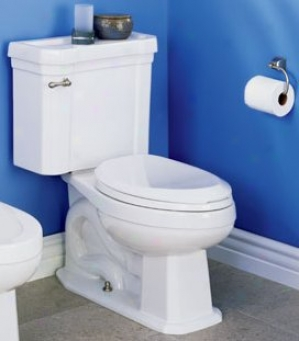 St. Thomas Creations 6125.010.01 Richmond Ii Round Front 2-piece Water Closet, Happy