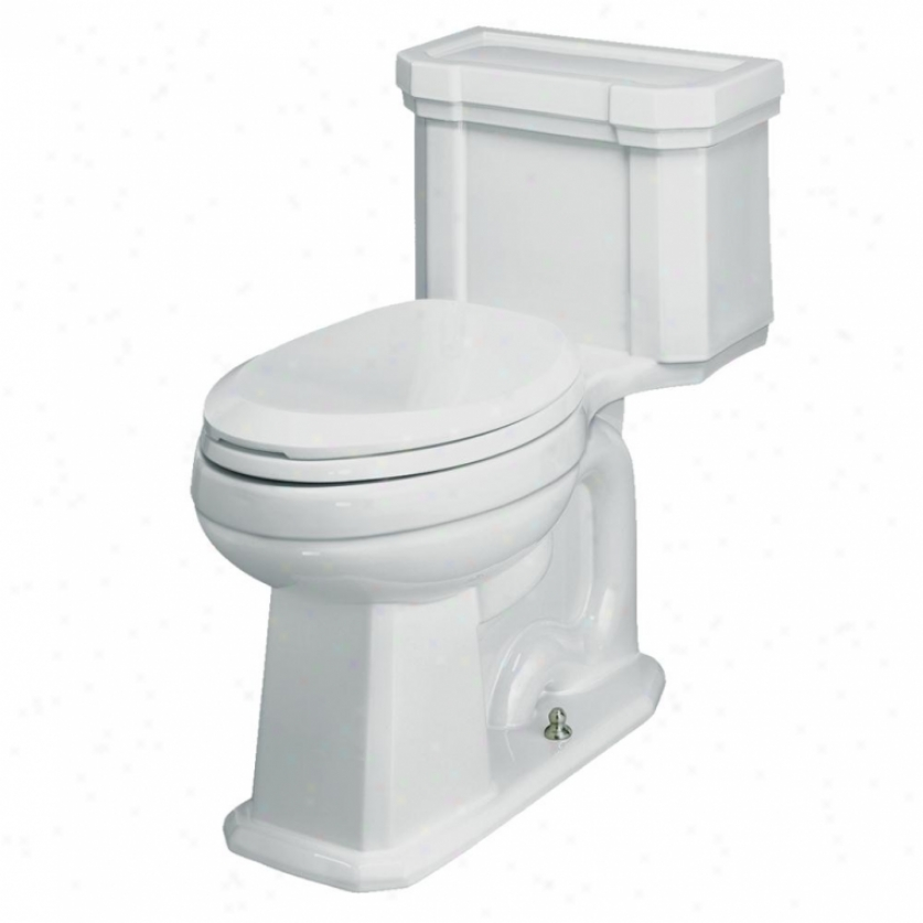 St. Thomas Creations 6125.128.01 Richmond 1-piece Chair-height Elongated Water Closet, White