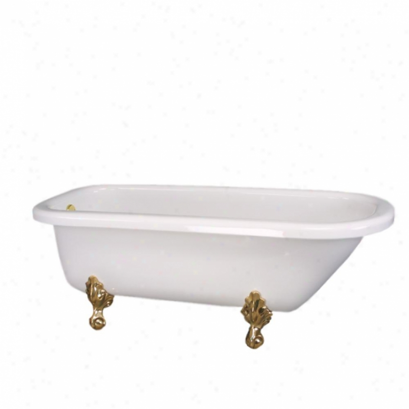 St. Thomas Creations 8063.000.01 Bostonian Claw Foot Tub Only, White