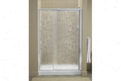 Sterling 1505d-48n-g64 Vista Shower Door Pivot 65-1/2h X 42 - 48w Brownstone Glass Nickel
