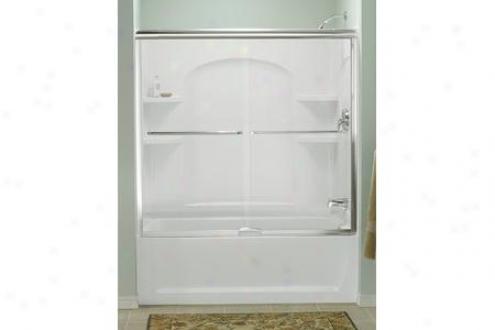 Sterling 5325ez-57s Finesse Quick-install Bath Door Frameless 55-3/4h X 56 - 57-1/2w W/c1eancoat S