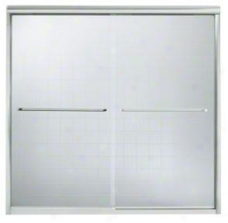 Sterling 5405-59dr-g05 Funesse By-pass Bath Door 58-5/16h X 54-5/8 - 59-5/8w Sipver With Smooth/cl