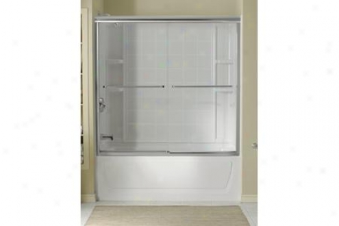 Sterling 5405-59s-g05 Finesse Bath Door Frameless 58-5/16h X 54-5/8 - 59-5/8w W/cleancoat Smooth/c