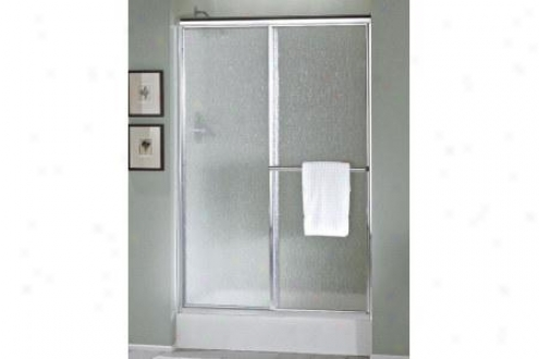 Sterling 5960-55pb Deluxe Shower Door 65-1/2h X 49-1/2 - 54-1/2w Pebble Glass Polished Brass