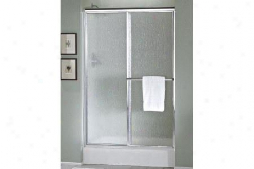 Sterling 5960-59s Deluxe Shower Door 65-1/2h X 54 - 59w Pebble Glass Silver