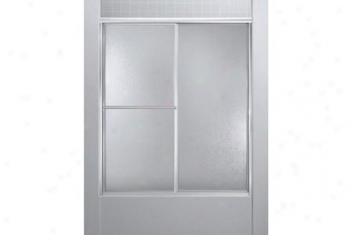 Sterling 5970-56s Deluxe Shower Door 70h X 51 - 56w Pebble Glss Sjlver