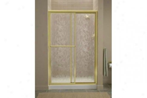 Syerling 5975-48s-g51 Deluxe Shower Door 70h X 43-7/8 - 48-7/8w Moraine Glass Silver